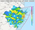 浙江近24小时雨量分布图。 浙江天气网提供 - 浙江新闻网