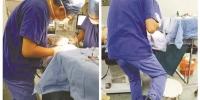 他为什么要搁起腿为患者做手术? - 杭州网
