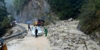 道路被堵塞。开化宣传部提供 - 浙江新闻网