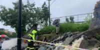 图为杭州临安出现塌方。 临宣 摄 - 浙江新闻网