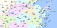 截至18日14时浙江24小时气温变化图。 浙江省气象台供图 摄 - 浙江新闻网