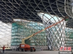 """杭州""""亚运三馆""""项目建设现场。 胡丁于 摄 - 浙江网"""